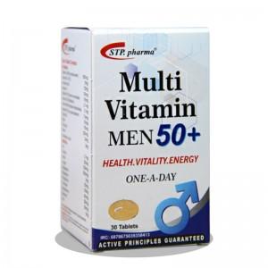 قرص مولتی ویتامین آقایان بالای 50 سال اس تی پی فارما 30 عدد