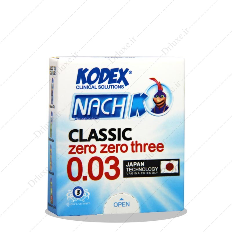 کاندوم کلاسیک ناچ بسیار نازک کدکس 3 عددی