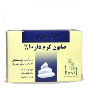 صابون کرم دار 10% گل سیتو مخصوص پوست خشک 125 گرم