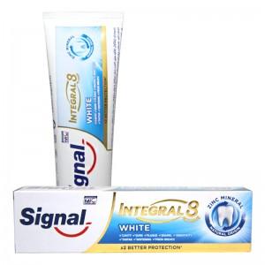 خمیر دندان سفید کننده اینتگرال 8 White سیگنال 75 میلی لیتر