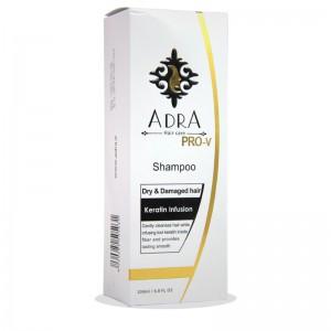 شامپو کراتین مناسب موهای خشک و آسیب دیده آدرا 200 میلی لیتر