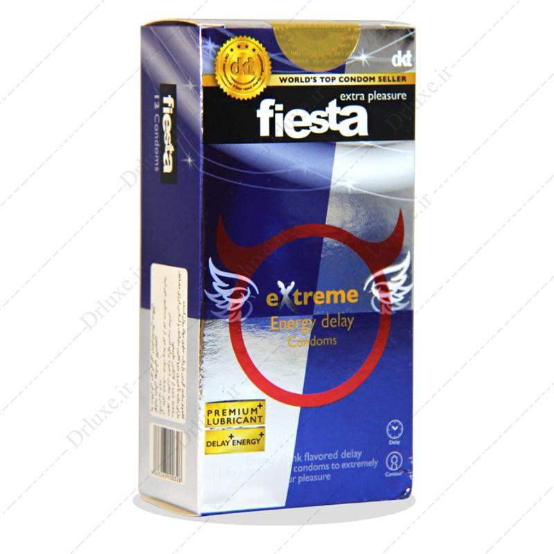 کاندوم ساده باریک حاوی روان کننده مدل اکستریم فیستا 12 عددی
