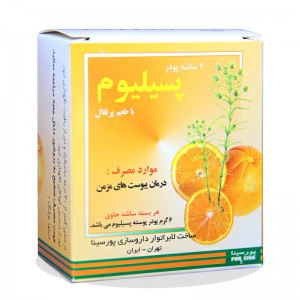 پودر پوسته پسیلیوم پرتقالی پورسینا 6 گرم 7 عددی