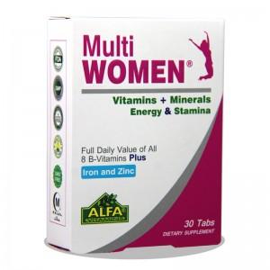 قرص مولتی ویتامین مولتی وومن آلفا ویتامین 30 عددی