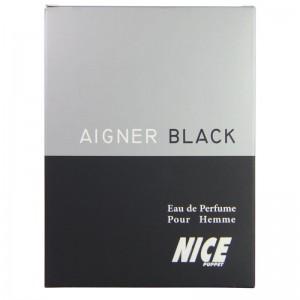 ادکلن ادوپرفیوم مردانه نایس مدل Aigner Black حجم 85 میلی لیتر