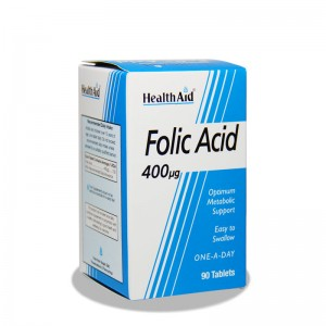 قرص فولیک اسید 400 میکروگرم هلث اید 90 عدد