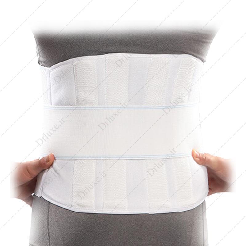 کمر بند طبی سخت با آتل پلی آمید پاک سمن سایز L
