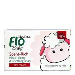 صابون بچه مرطوب کننده کرمی فلو 100 گرم