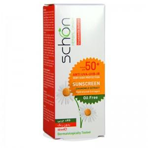 کرم ضد آفتاب SPF50 بی رنگ فاقد چربی شون 50 میلی لیتر