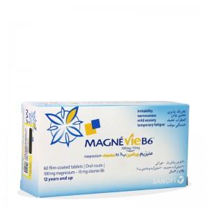 قرص مگنوی منیزیم ب6 سانوفی 60 عددی