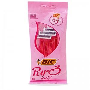 تیغ اصلاح 3 لبه زنانه Pure 3 Lady بیک 4 عددی