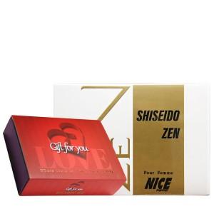 پک هدیه ادکلن و مام رول زنانه نایس مدل Shiseido Zen