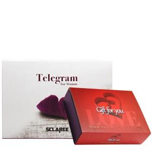 پک هدیه ادکلن و مام رول زنانه اسکلاره مدل Telegram