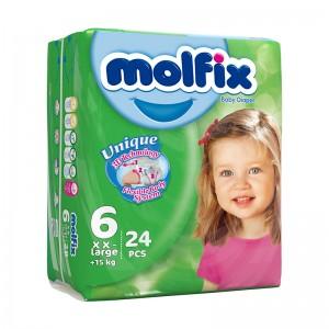 پوشک بچه مولفیکس سایز 6 بسته 24 عددی