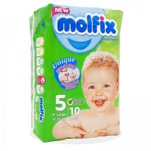 پوشک بچه مولفیکسسایز 5 بسته 10 عددی