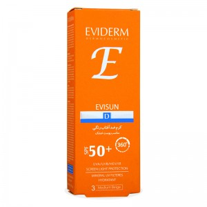 کرم ضد آفتاب SPF50 بژ متوسط پوست خشک اوی سان اویدرم  40 میل