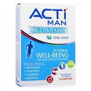 قرص مولتی ویتامین آقایان اکتی من لیبریتی سوئیس 30 عدد