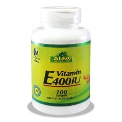 کپسول ویتامین ای 400 آلفا ویتامینز 100 عددی