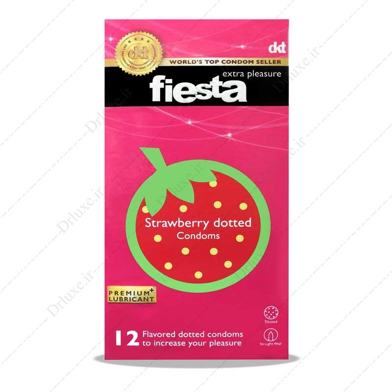 کاندوم خاردار توت فرنگی فیستا 12 عدد