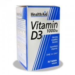 قرص ویتامین د 3 هلث اید 1000 میلی گرم 30 عددی