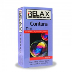 کاندوم تاخیری و نازک ریلکس  کانتورا 12عددی