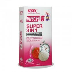 کاندوم تاخیری سوپر 3 در 1 ناچ  کدکس 12 عدد