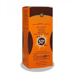 کرم ضدآفتاب +SPF50 رنگی  فاقد چربی آنتی آکنه سان سیف 50 میلی لیتر