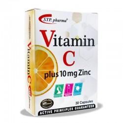 کپسول ویتامین سی همراه با زینک اس تی پی فارما 30 عدد