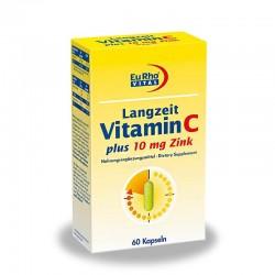 کپسول ویتامین ث با زینک یوروویتال 10 میلی گرم 60 عددی