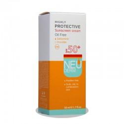 ضد آفتاب SPF50 نئودرم فاقد چربی 50 میلی لیتر