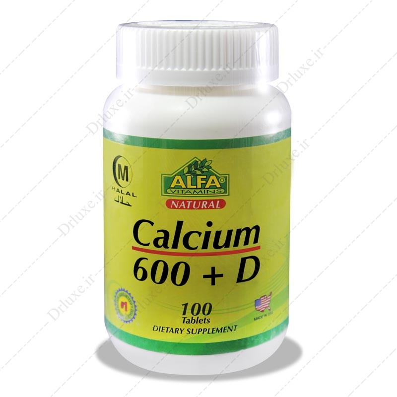 قرص کلسیم 600 + ویتامین دی آلفا 100 عددی