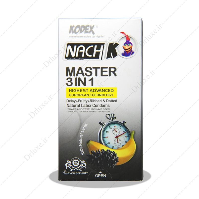 کاندوم تاخیری مستر 3در1 ناچ کدکس 12 عدد
