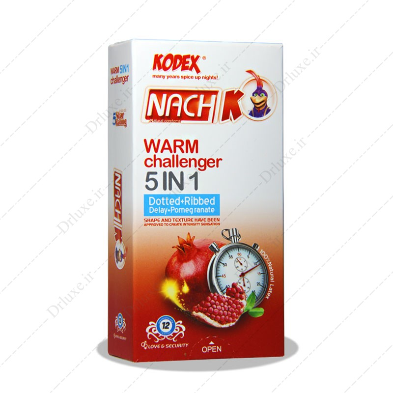کاندوم تاخیری گرم 5 در 1  کدکس  12 عدد