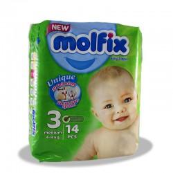 پوشک بچه مولفیکسسایز 3 بسته 14 عددی